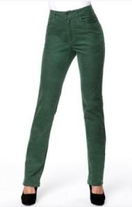 Barevné kordové džíny
