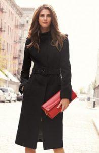 dámsky zimní kabát černý next