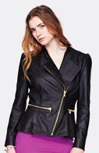 kožená bunda křivák dámský