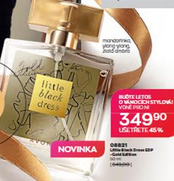 little black dress gold novinky vánoční edice avon katalog 2020