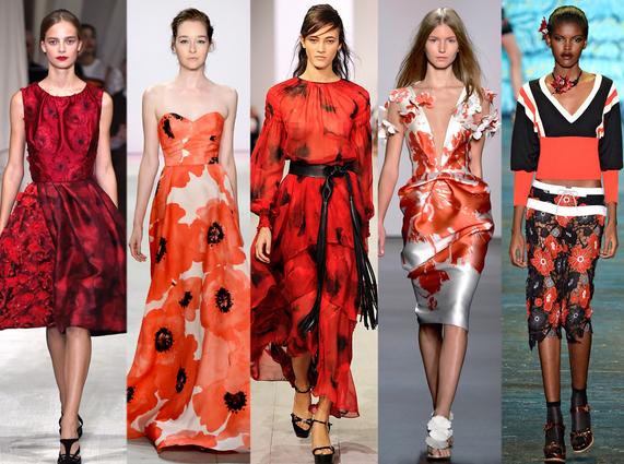 moda jaro 2016 cervene kvety-saty