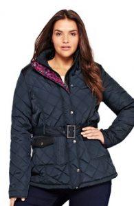 Móda pro plnoštíhlé dámská zimní bunda