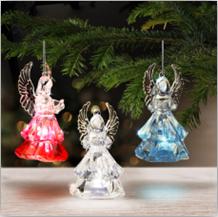 Vánoční ozdoby - svítící anděl